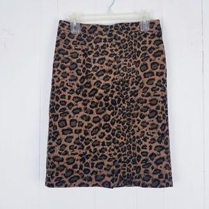 Talbots Animal Print Pencil Skirt Size 4